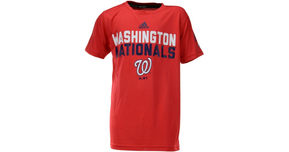 online store 8a69a c3687 Lyst - Adidas Boys Washington Nationals Batter Climalite Tshirt in Red for  Men