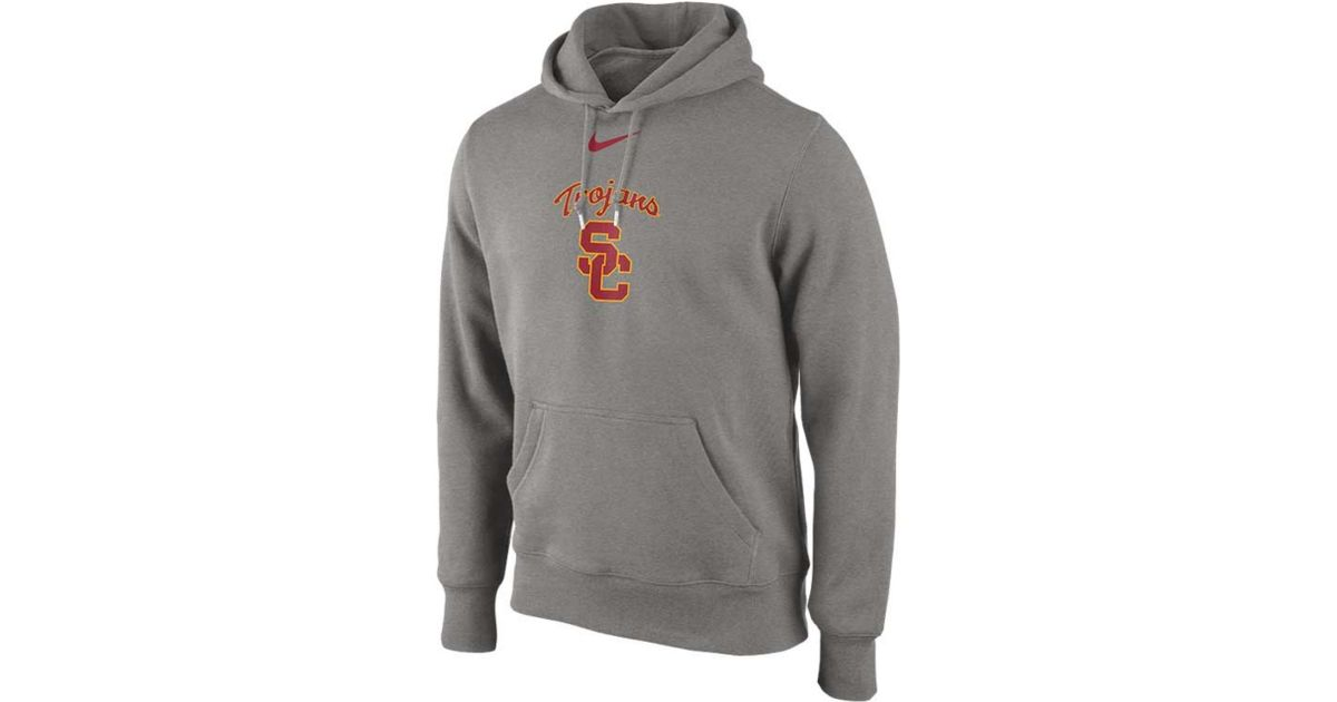 Lyst - Nike Mens Usc Trojans College Classic Hoodie in Gray for Men 0612aee9a