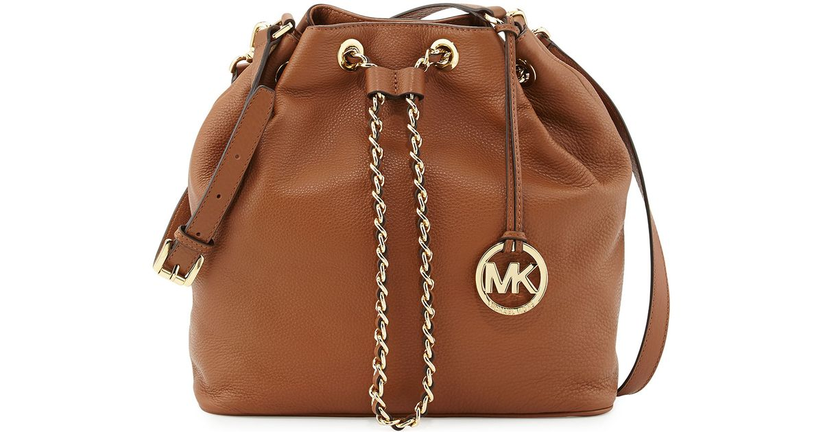 d0422daf922c Michael Kors Michael Large Frankie Drawstring Shoulder Bag in Brown - Lyst