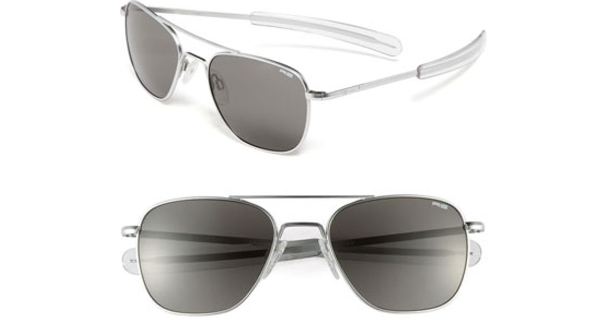 28040a7b71ac1 Lyst - Randolph Engineering 55mm Aviator Sunglasses in Gray for Men