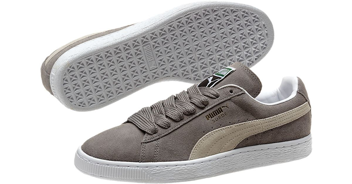 puma suede classic sneakers in gray for men lyst. Black Bedroom Furniture Sets. Home Design Ideas