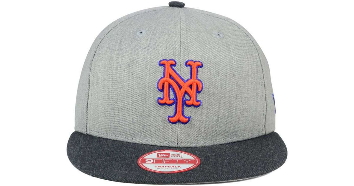 san francisco 178b1 9051a KTZ New York Mets Heather Action 9fifty Snapback Cap in Blue for Men - Lyst