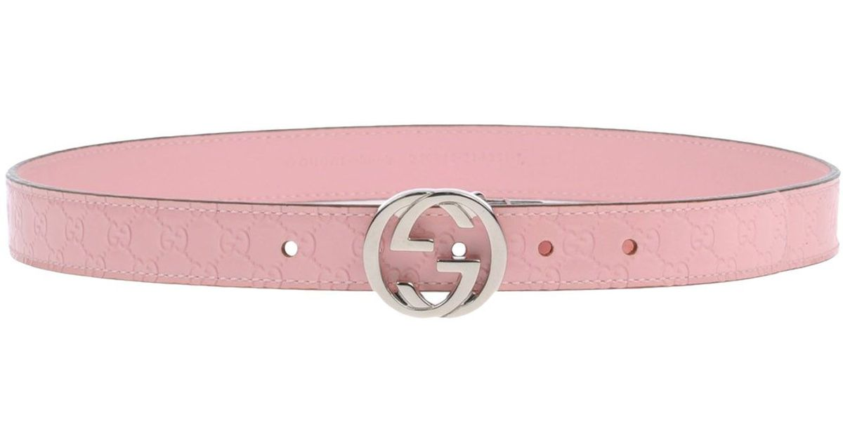 374fbde513f Lyst - Gucci Belt in Pink