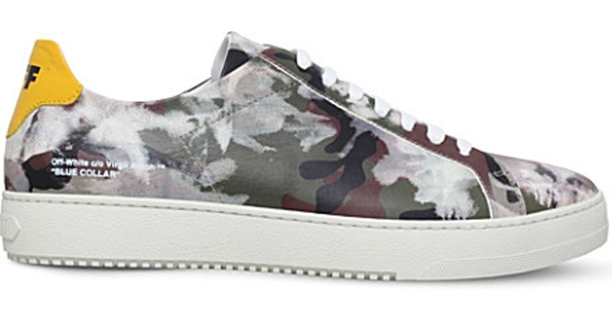 3b46ef619824 Lyst - Off-White c o Virgil Abloh Camouflage-embossed Leather Trainers for  Men
