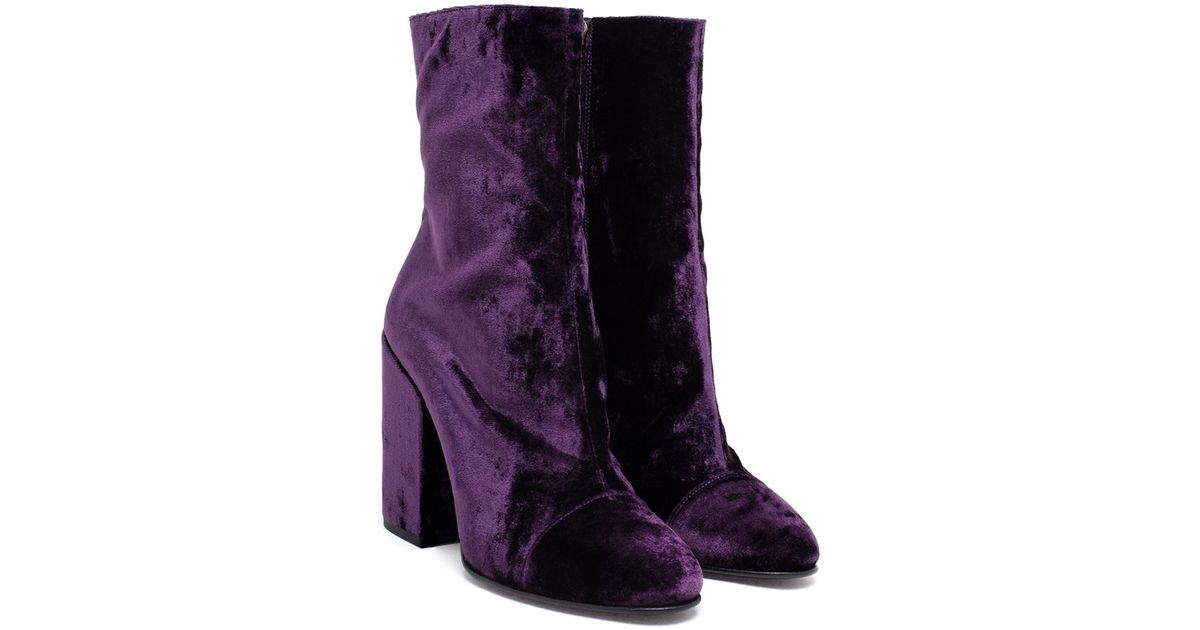 dries noten boots purple suede lyst