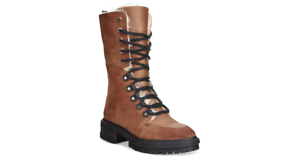 1dcf0dd6646c9 Lyst - Circus by Sam Edelman Liam Foldover Combat Boots in Brown
