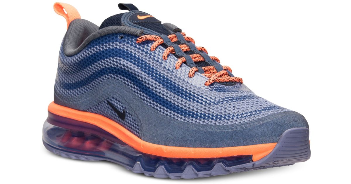 half off 67756 92dd5 ... norway lyst nike mens air max 97 hyp running sneakers from finish line  in blue for