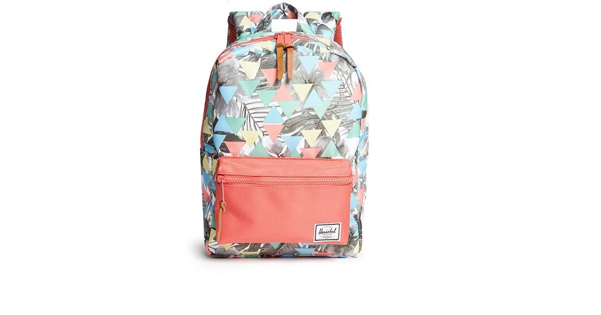 ad3d4f2049e Lyst - Herschel Supply Co.  Settlement  Floral Triangle Print Kids Backpack  in Blue for Men