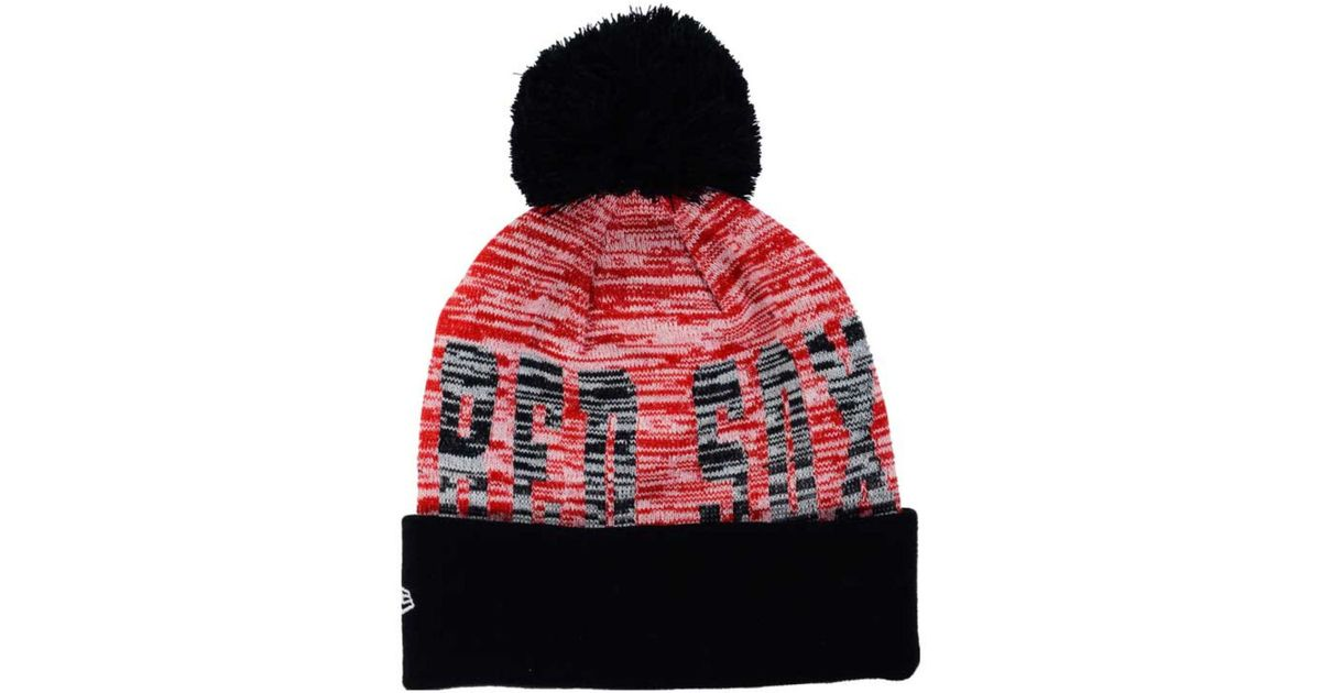 214f1f6f792 ... get lyst ktz boston red sox word fuzz knit hat in red for men 12bd0  28c97