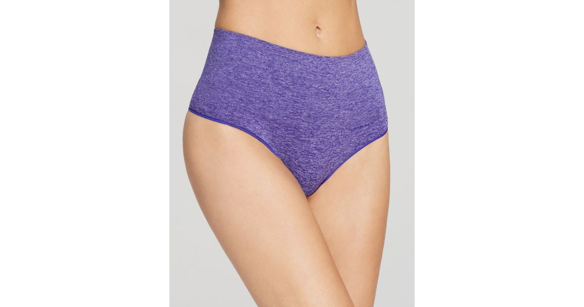 3369c52de07 Lyst - Spanx ® Thong - Everyday Shaping Seamless High-Waist  Ss0815 in  Purple