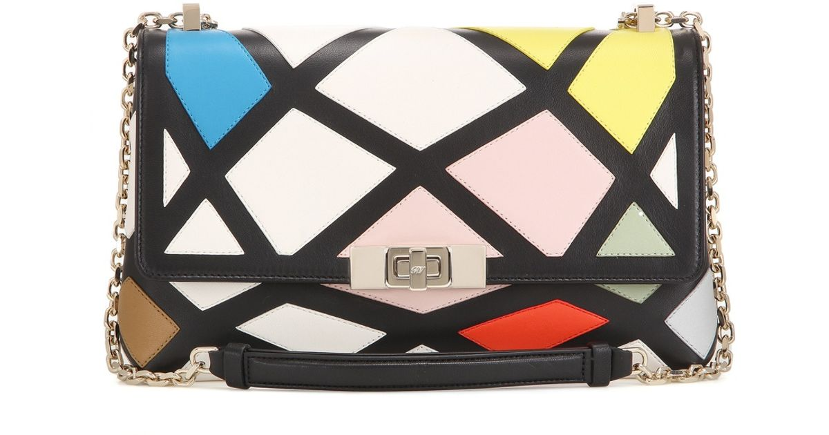 Lyst - Roger Vivier Prismick Mini Leather Shoulder Bag in Pink 6f8afb7d695b4