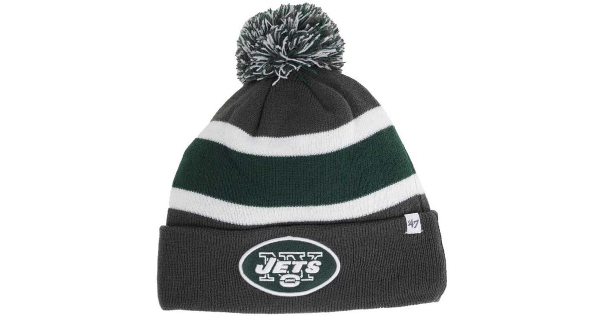official photos db32b 3137f ... norway lyst 47 brand new york jets breakaway knit hat in gray for men  63e4b e9a36
