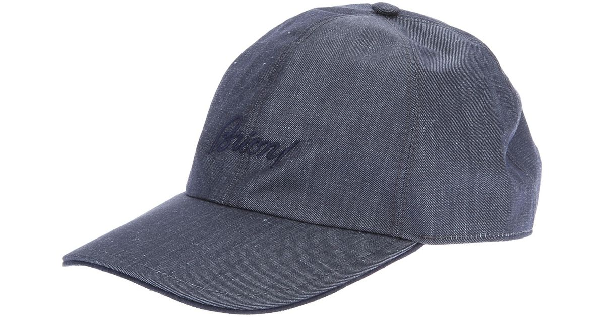 4a8c4ed28bd Brioni Logo Baseball Cap in Blue for Men - Lyst
