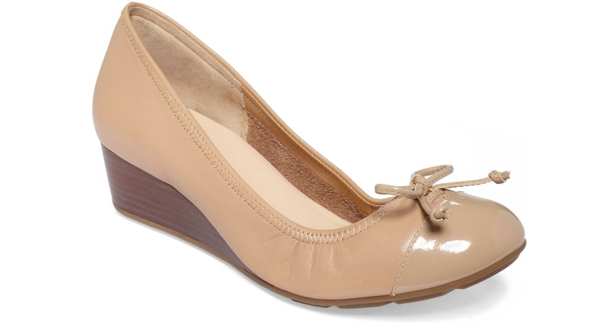 62f0a4953a86 Lyst - Cole Haan Women S Air Tali Lace Wedges in Natural