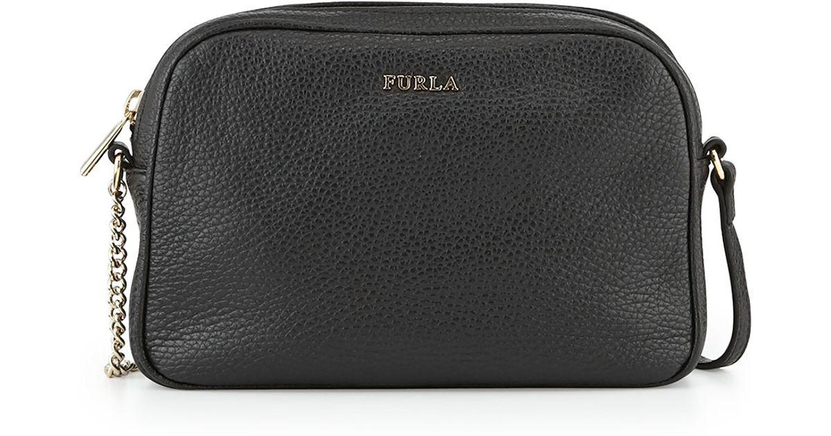 Lyst - Furla Miky Small Leather Crossbody Bag in Black 97dbff76fffe4