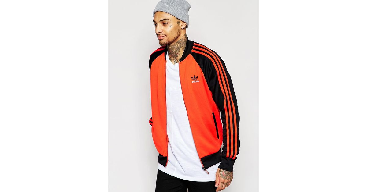 Adidas Originals Superstar Track Top Collegiate Orange