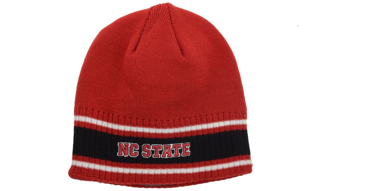 Lyst - Adidas Originals North Carolina State Wolfpack Coaches Cuffless Knit  Hat in Red for Men ca72b64542f9