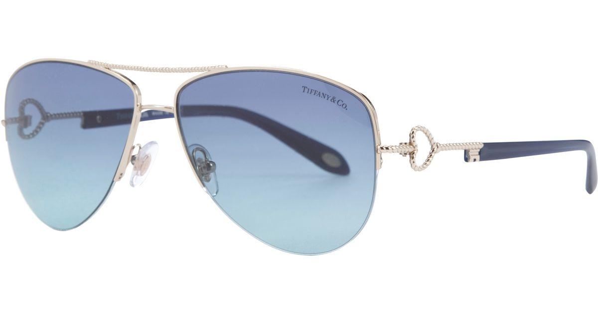 e8ac209769 Tiffany & Co. Tf3046 Aviator Sunglasses in Blue - Lyst