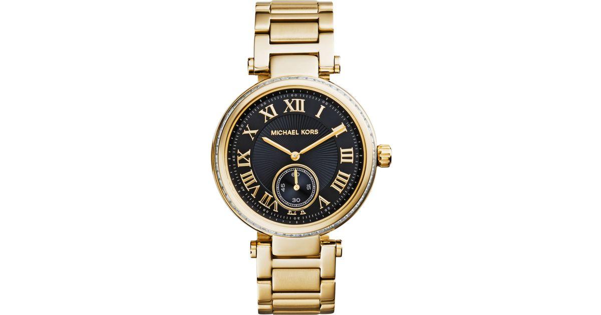 9702eddc19c7 Lyst - Michael Kors Women S Skylar Gold-Tone Stainless Steel Bracelet Watch  42Mm Mk5989 in Metallic