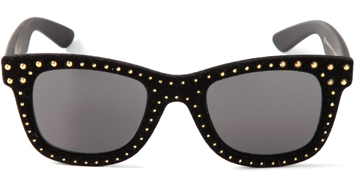 a0fc4e3ea886b Italia Independent Stud Sunglasses in Black - Lyst