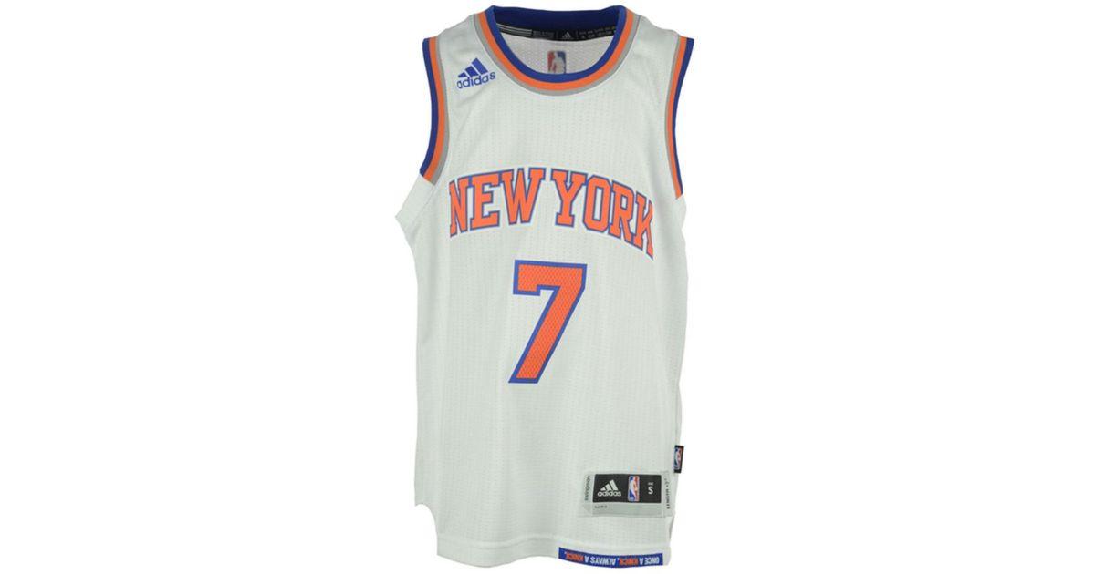 d784b4ffa adidas Kids  Carmelo Anthony New York Knicks Swingman Jersey in White for  Men - Lyst