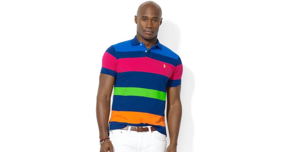 1251e7ae80 ... switzerland lyst ralph lauren polo big and tall classic fit multi  striped mesh polo for men