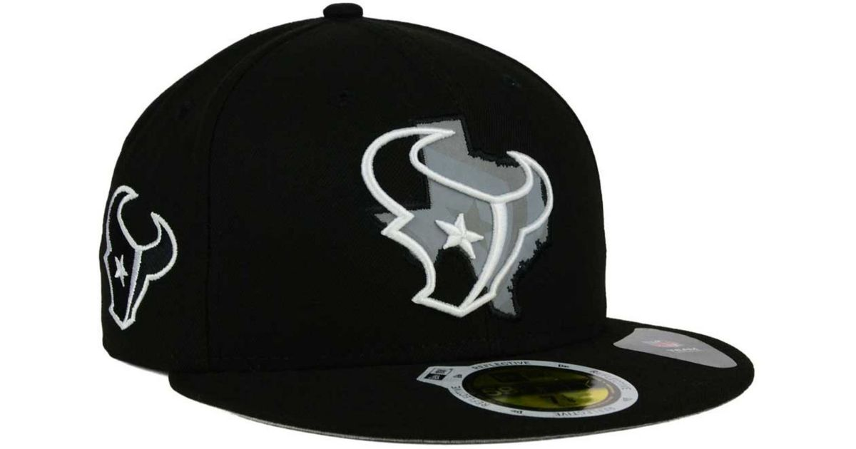 100% authentic c4be7 14f94 KTZ Houston Texans State Flective Redux 59fifty Cap in Black for Men - Lyst
