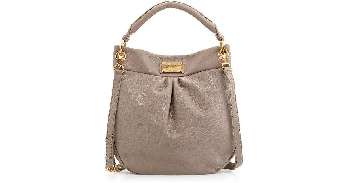 d9089aae187 Marc By Marc Jacobs Classic Q Hillier Hobo Bag Cement in Gray - Lyst