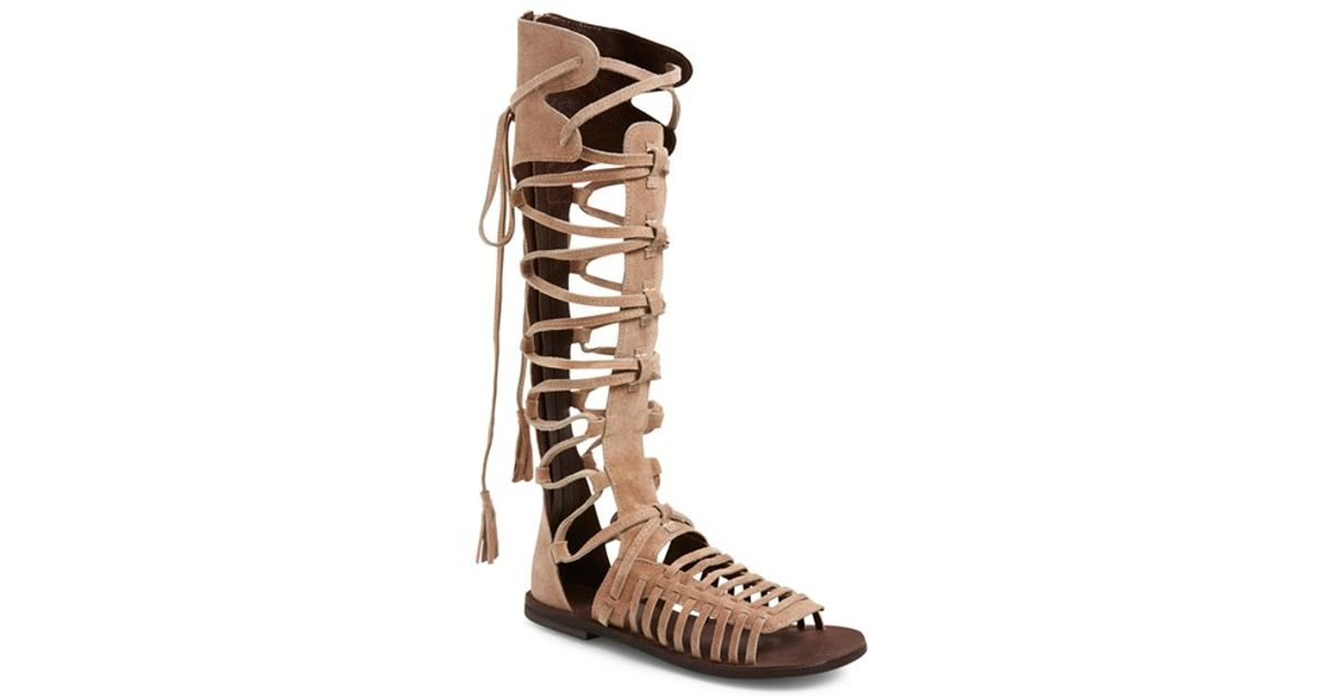 1a91bbb40bc Lyst - Free People  sun Seeker  Tall Gladiator Sandal in Natural