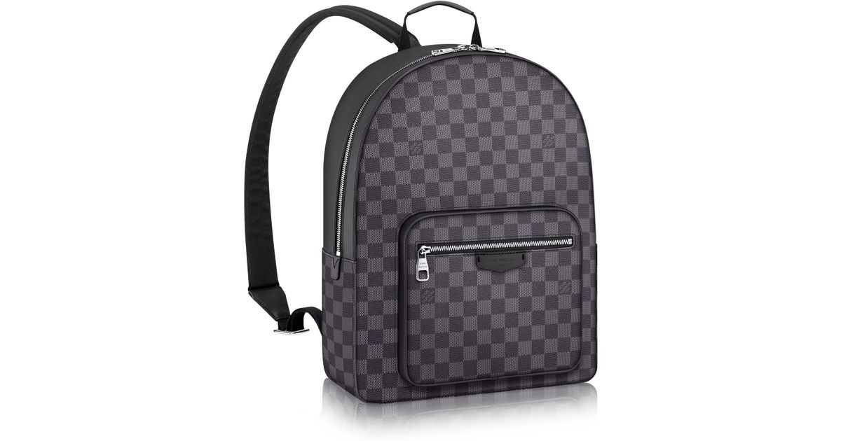Louis vuitton Josh Canvas and Leather Backpack in Gray for ...