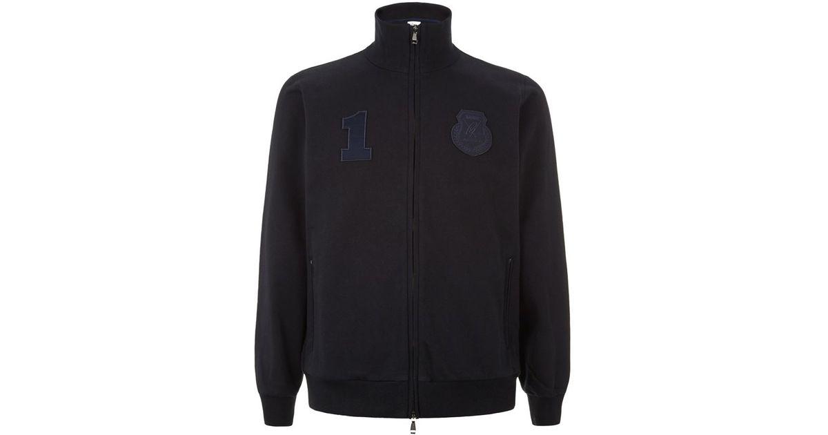 748f4da1d Brioni Polo Club Zip-up Sweatshirt in Black for Men - Lyst