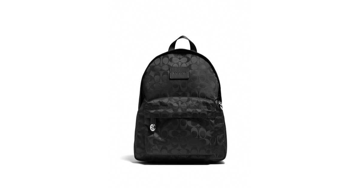 221082741 ... australia new style lyst coach small logo patterned nylon backpack in  black b5efb 2088d 281bc 20b42