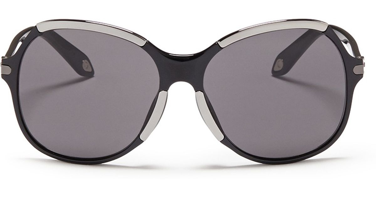 654c46563c91 Givenchy Metal Deco Oversize Acetate Sunglasses in Black - Lyst