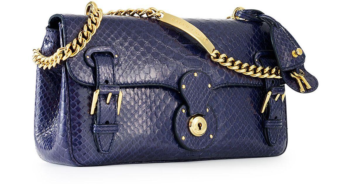Ralph Lauren Leather RL Chain Shoulder Bag DRltD
