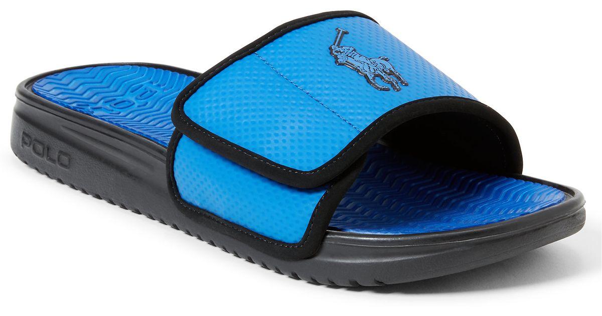 42d9c8600 Lyst - Polo Ralph Lauren Romsey Slide Sandal in Blue for Men