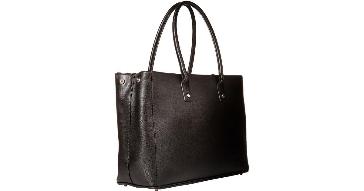 f6029eb31f Lyst - Furla Linda Large Tote C zip in Black