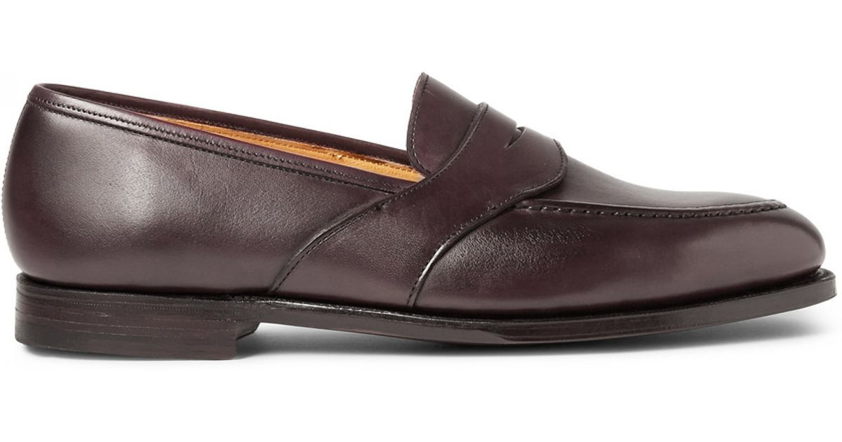 Anthony Cleverley Burnished-leather Loafers - NavyGeorge Cleverley fNbuu