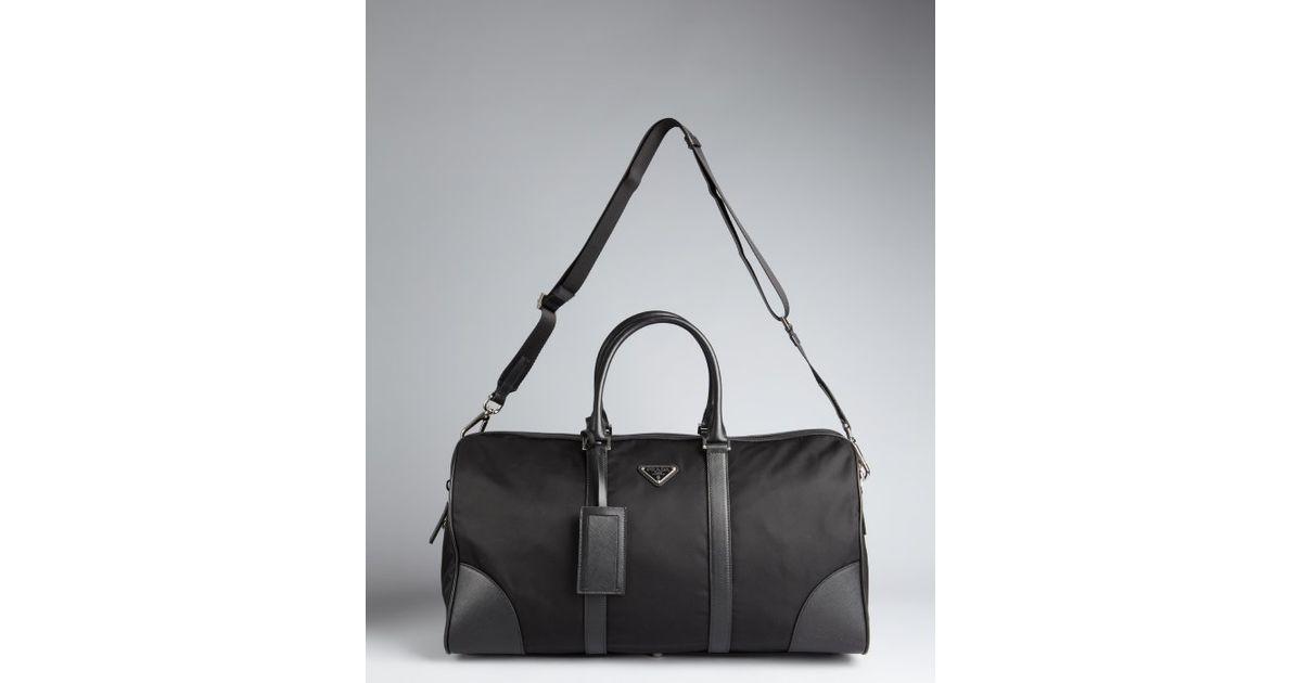 b02ff3d117bffb ... aliexpress lyst prada nylon zip duffle bag in black for men 3f0d3 f566d