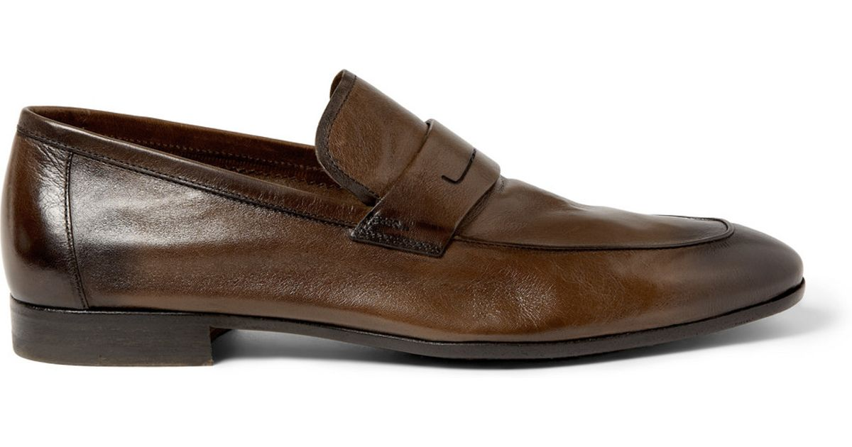 buy cheap 100% authentic Berluti Lorenzo Leather Loafers outlet visit new outlet with credit card LZb49K