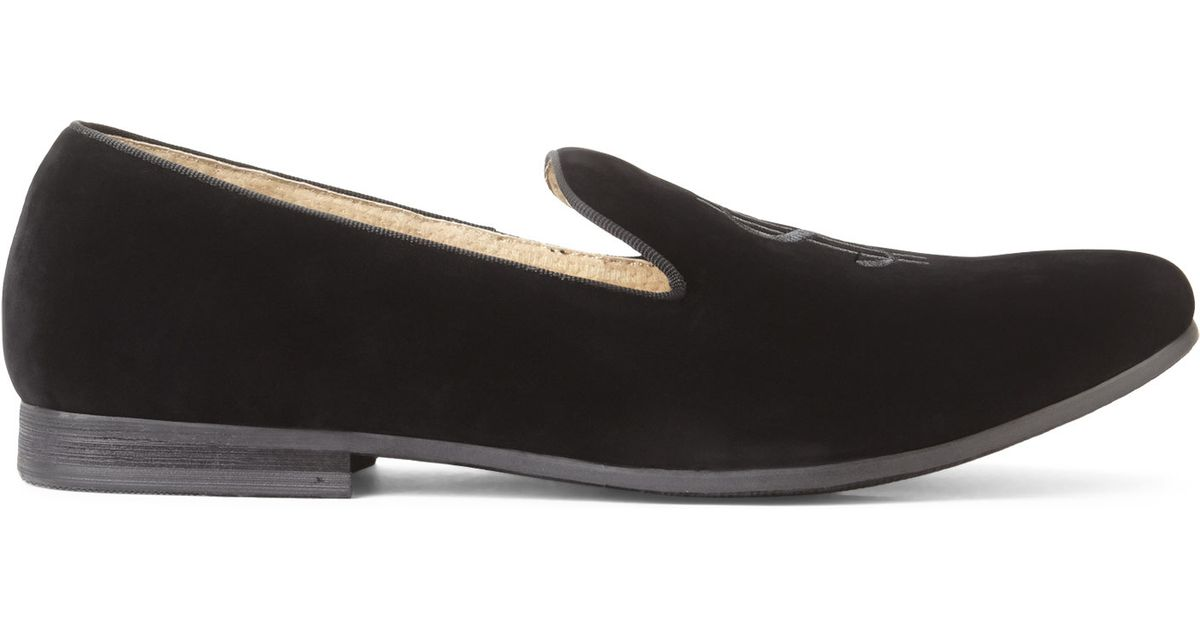 Steve madden Black Cha Ching Smoking Loafers in Black for ...