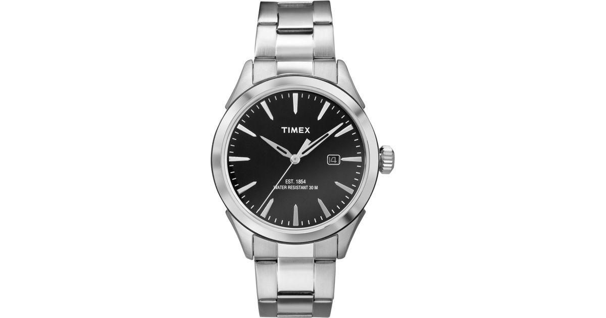 Lyst Timex Men S Chesapeake Stainless Steel Bracelet Watch 40mm Tw2p77300jt In Metallic For