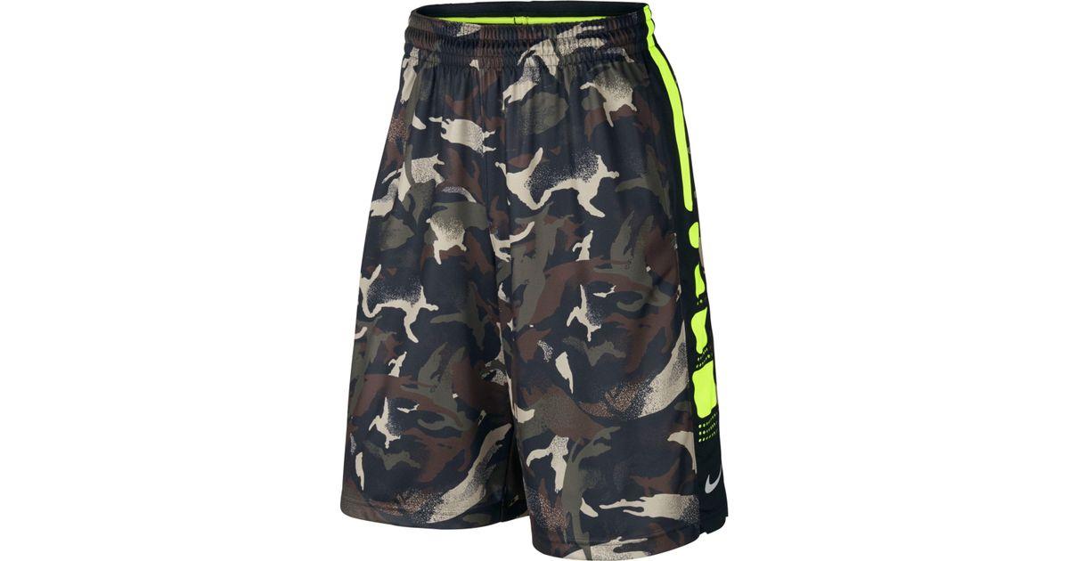 92d9acf43ebf Lyst - Nike Men s Elite Striped Camo Dri-fit Basketball Shorts in Black for  Men