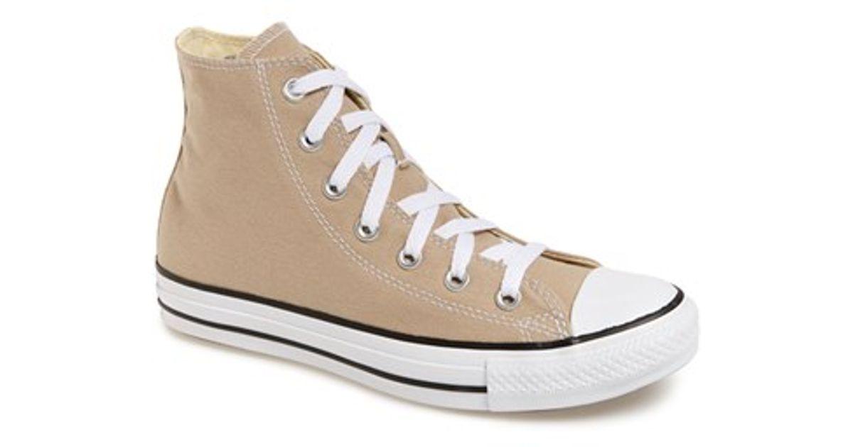 a724e4baa397 Lyst - Converse Chuck Taylor All Star  Seasonal  High Top Sneaker in Natural