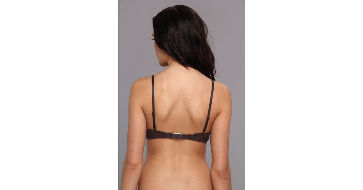 58c7240702 Lyst - Calvin Klein Subtlety Bare Underwire Bra in Brown