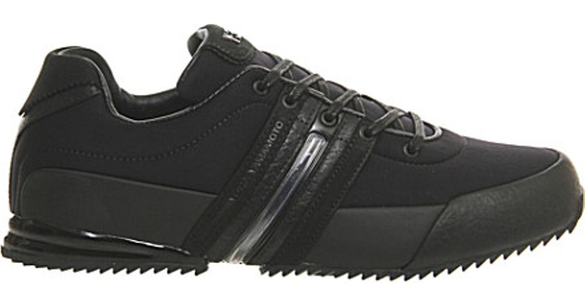 a819fcc51df2 Y-3 Y3 Sprint Leather Trainers in Black for Men - Lyst