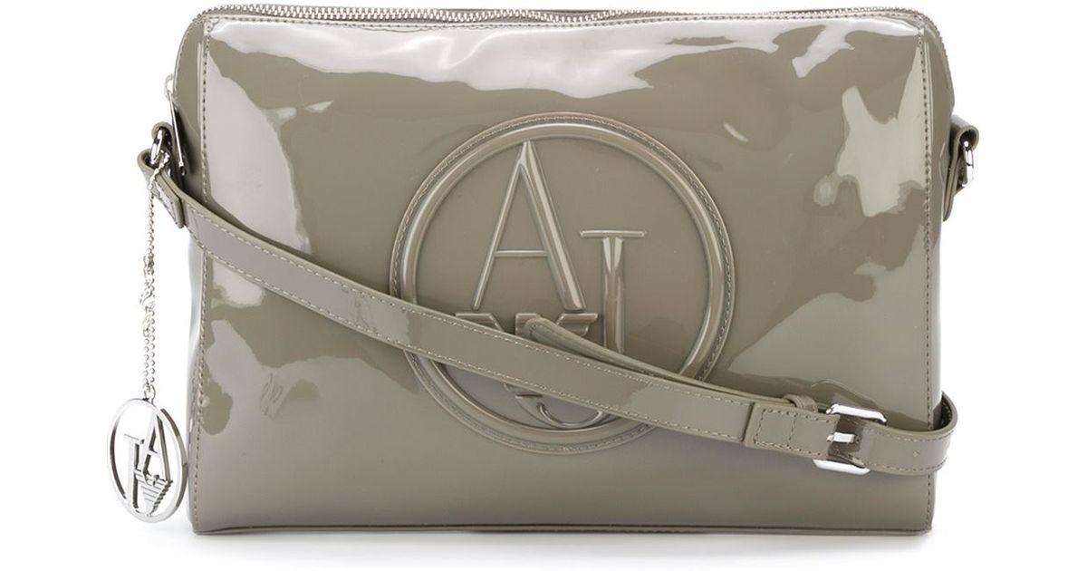 df96d38f Armani Jeans Embossed Logo Cross Body Bag in Brown - Lyst