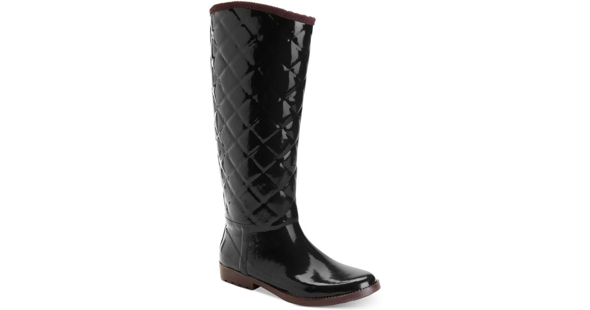 Tommy Hilfiger Women's Vintage Tall Tufted Rain Boots In