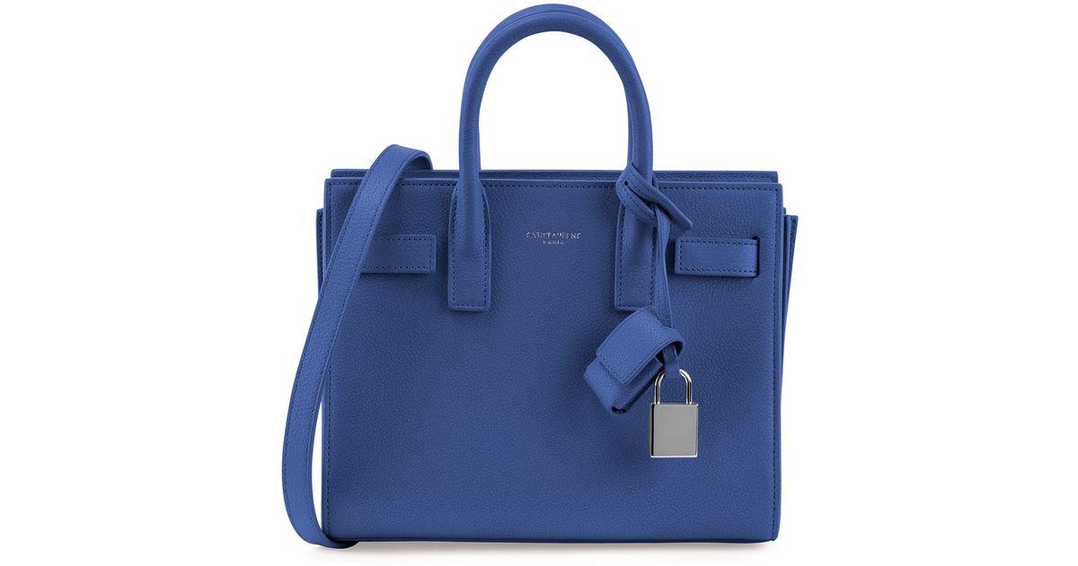 ysl china wholesale - Saint laurent Sac De Jour Mini Grained Leather Satchel Bag in Blue ...