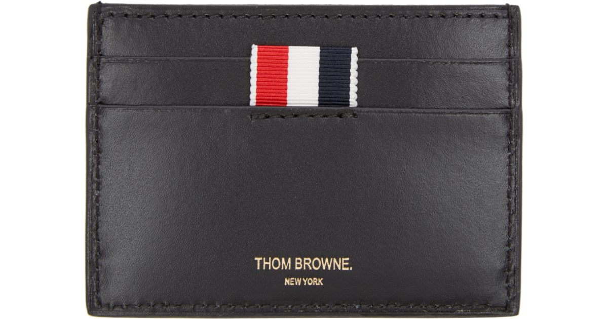 lyst thom browne black whale and turtle card holder in black for men - Thom Browne Card Holder