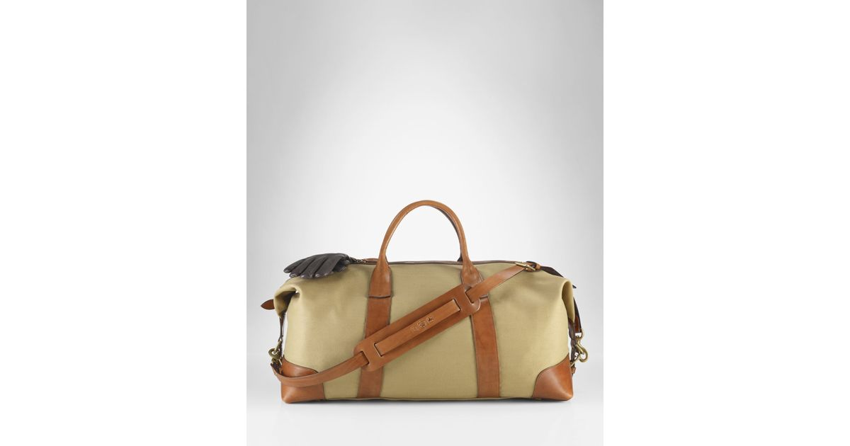 c220760ebc4 Lyst - Ralph Lauren Polo Canvas Duffle Bag in Natural for Men